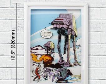 """Star Wars Layered Paper Cut Art """"At-At"""""""