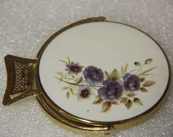 E Stratton England    vintage vanity compact  mirror flip mirror not a case mirror only