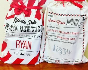 Personalized Santa Sacks|| Christmas Santa Sacks|| Santa Sack|| Personalized Gifts||