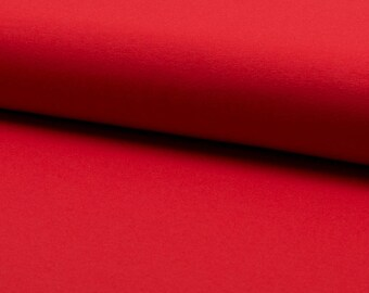0, 5m Jersey uni red smooth elastic