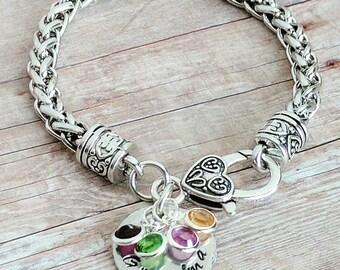 Grandma Bracelet, Grandma Jewelry, Grandmother Gifts, Mom Gifts, Nana Bracelet, Grammy Bracelet, Birthstone Bracelet, Gifts for Mom