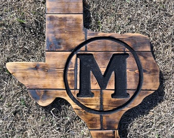 "24"" Distressed Engraved Texas Board"