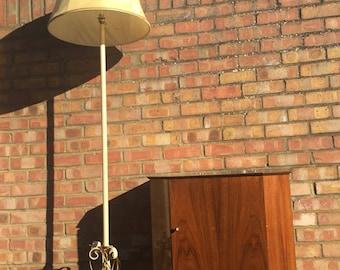 Vintage standard floor lamp with shade