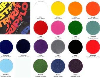 """Siser StripFlock Heat Transfer Vinyl - 9.8"""" x 7.8"""" (25 x 20 cm) sheet, 19 colors available, t-shirt vinyl, iron on vinyl, heat press vinyl"""