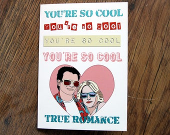 True Romance Greetings Card - Love - Quentin Tarantino, heart,