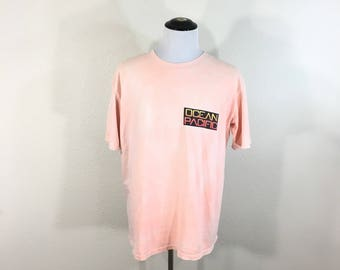 80's vintage ocean pacific all cotton surfing t-shirt made in usa size M