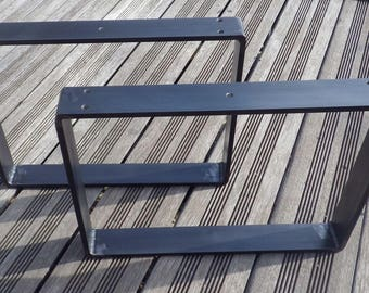 2 Steel rounded rectangular table legs for creations Do It Yourself DIY