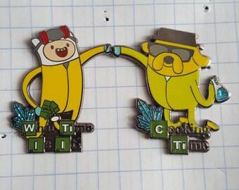 STFO Adventure Time/Breaking Bad 2-piece pin set