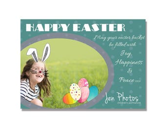 Easter Mini Session Photoshop Template, Instant Download, easily editable