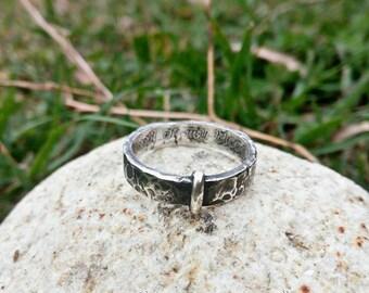 Ring Sterling Silver 925 * 5 mm Higlands Scotland Celtic