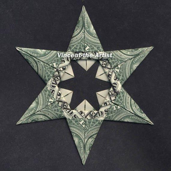 6 Point Star Money Origami Dollar Bill Religion Cash Sculptors - photo#5