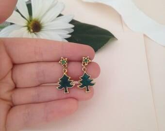 Christmas Tree Earrings - Holiday Tree Earrings - Holiday Earrings - Christmas Earrings - Festive Earrings - Celebration Earrings - Trees