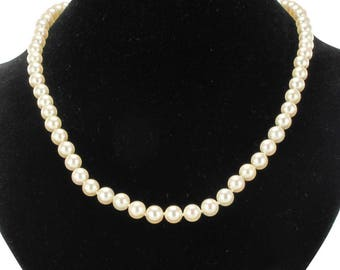 18K Vintage classic rose gold Akoya pearl necklace
