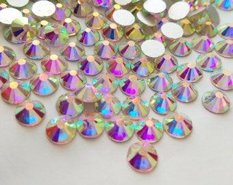 1440 pcs Crystal AB Flat Back Rhinestones Flat Back Crystal wholesale loose flatback rhinestone crystals glass beads 2mm 3mm 4mm 5mm 6mm 7mm
