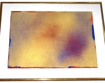 "Jules Olitski Original Pencil Signed Six-Color Silkscreen Serigraph ""Toora"" 1986 Professionally Framed 1986 Ed. of 125"