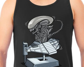 New Alien Xenomorph Funny Men's Tank Top T-Shirt Aliens Nostromo Unisex Tanks Adult Sizes