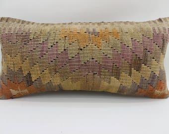 10x20 geometric kilim pillow bedrrom pillow home decor ethnic pillow anatolian kilim pillow aztec kilim pillow lumbar pillow SP2550-1572