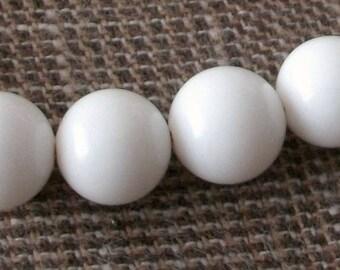 2 beads drilled white 12mm stone Fine gem stone natural semi precious Onyx