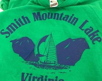 Vintage Smith Mountain Lake T-Shirt Green Screen Stars