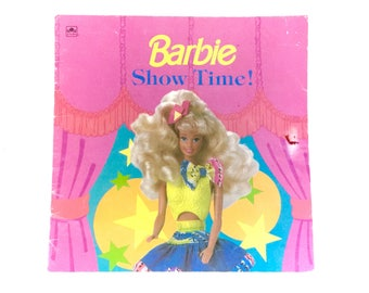 Vintage 1992 Barbie Show Time! Paperback Book Softcover Golden Look Book Doll Patricia Jensen Mattel Licensed 90s Classic Retro Girl Kawaii