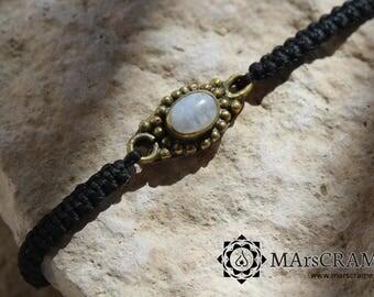 DESIREE. Stone and brass macrame bracelet, macramé, micro macrame, gift, woman gift, yoga jewelry, macrame jewelry, chakra, jewelry, boho