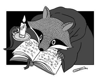 Occult Trash Raccoons A6 Postcards - 3 Designs