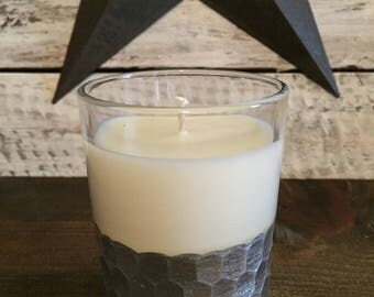 5 oz soy wax candle ...scent is clean cotton