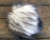 Faux Fur Poms in Timberwolf- Two sizes