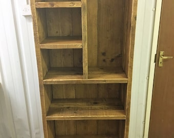 Simply Rustic Range -Reclaimed Timber Tall book case
