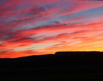 Sunset photograph print