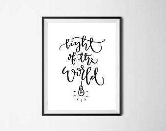 Light of the World - Calligraphy Print