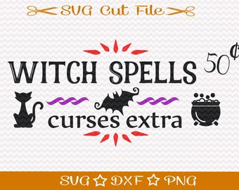 Halloween SVG File, Halloween Sign Svg, Trick or Treat svg, Halloween Cut File, Happy Halloween svg, Witch svg