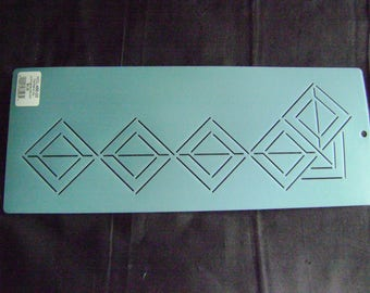 Sashiko Japanese/African Embroidery Stencil 3 in. African Mask Motif Border/Quilting