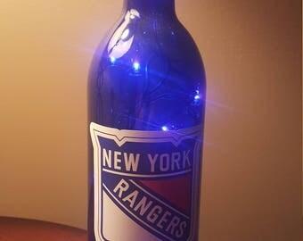 NY Rangers Lighted Bottle