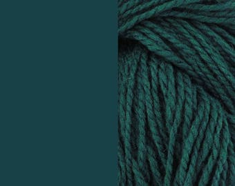 Wool yarn, dark petrol | bulky, 2 ply worsted quick knit pure wool yarn 100g/130m