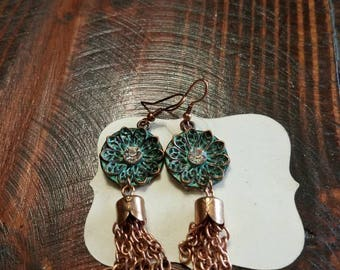 Torquoise Flower Earrings
