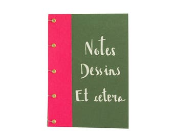 A5 notebook handmade customizable Calaveras - format 15x21cm - 60 pages - bright colors - sewn binding