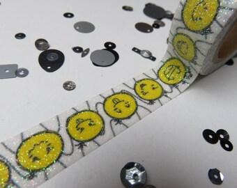 Glitter emoticon washi tape