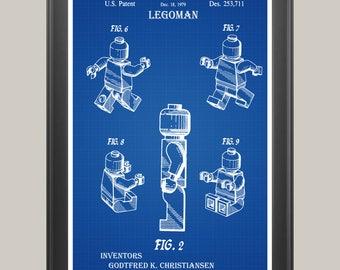 Legoman Patent, Legoman Poster, Legoman Print, Lego Patent, Lego Poster, Lego Print, Lego Art, Lego Decor, Lego Blueprint, Lego Gift  P315
