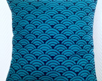 zen indigo pillow cover