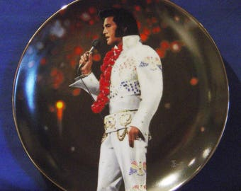 Elvis Presley 'In Performance Collection' Aloha from Hawaii Collector Plate-NIB