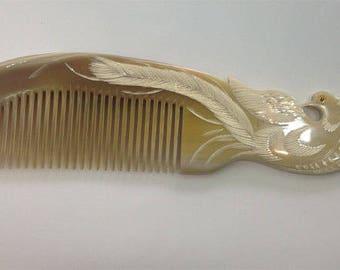 Buffalo Horn Comb HH02  Length 21 cm, Width 5.5cm