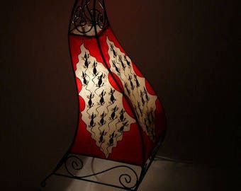 Moroccan Henna lamp Oriental lamp in leather Marrakech-70 cm