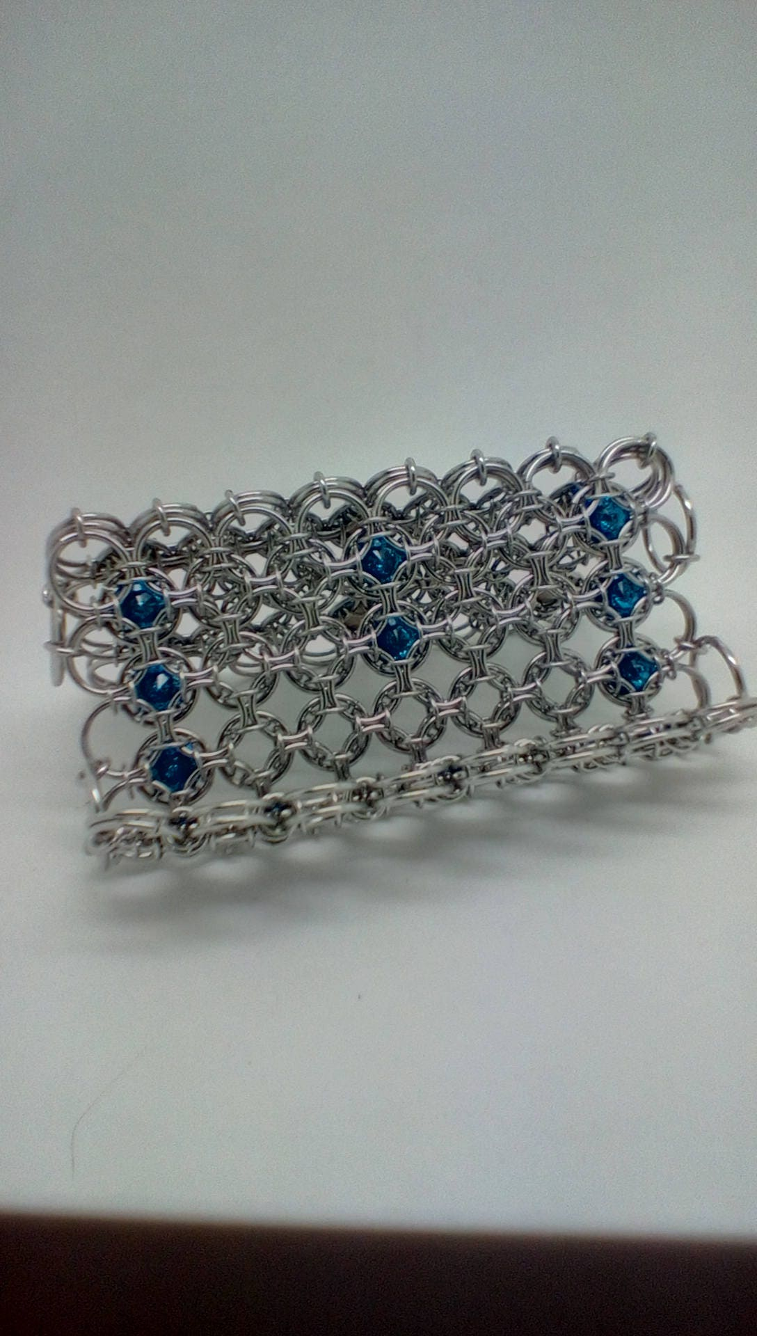 Handwoven Chainmaille/chainmail Business card holder in stainless ...