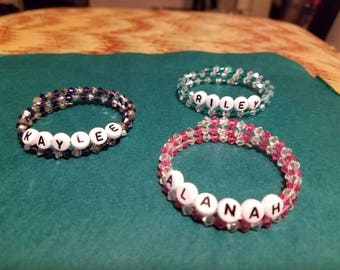 Custom kids name bracelet