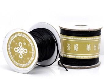 5 1.5 mm black nylon cord