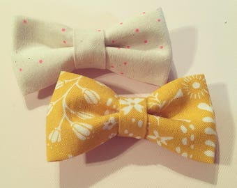 Yellow and pink bows