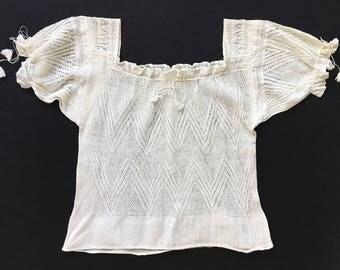 Rare 1920s Dainty Knit Blouse