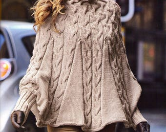 PDF Bergere d'france Pattern to make beautiful ever popular Poncho