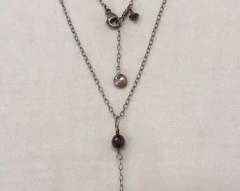 Delicate Sterling Y Necklace